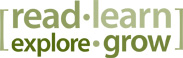 read learn explore grow logo